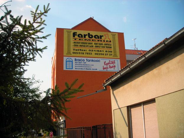 Usluge izrade reklame na fasadi